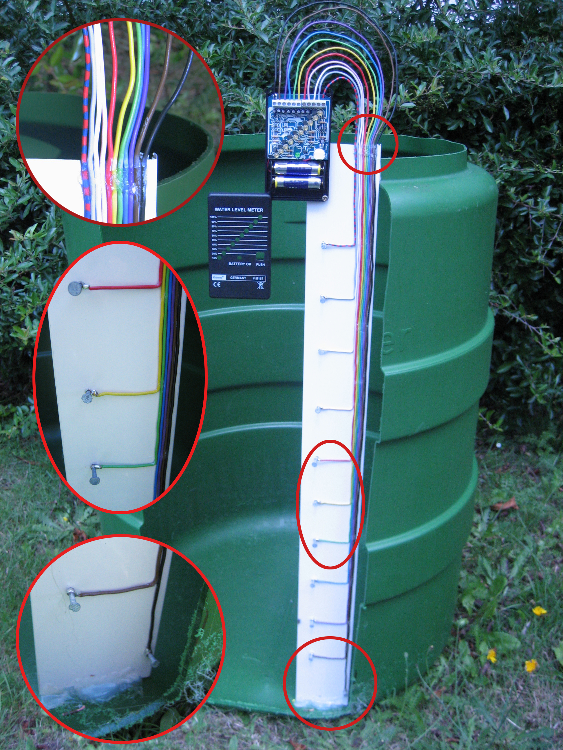 Indicador de nivel de agua en deposito for Fabricar estanque